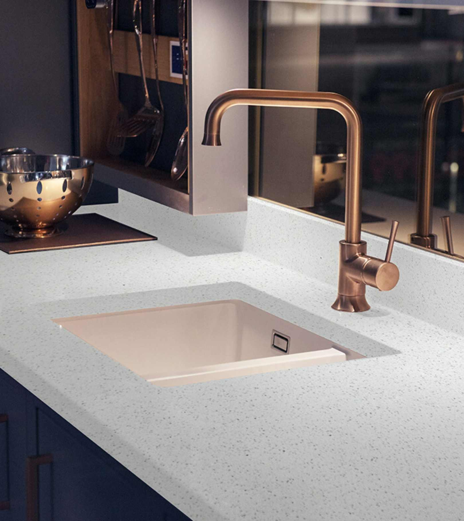 Silver Start White quartz countertop