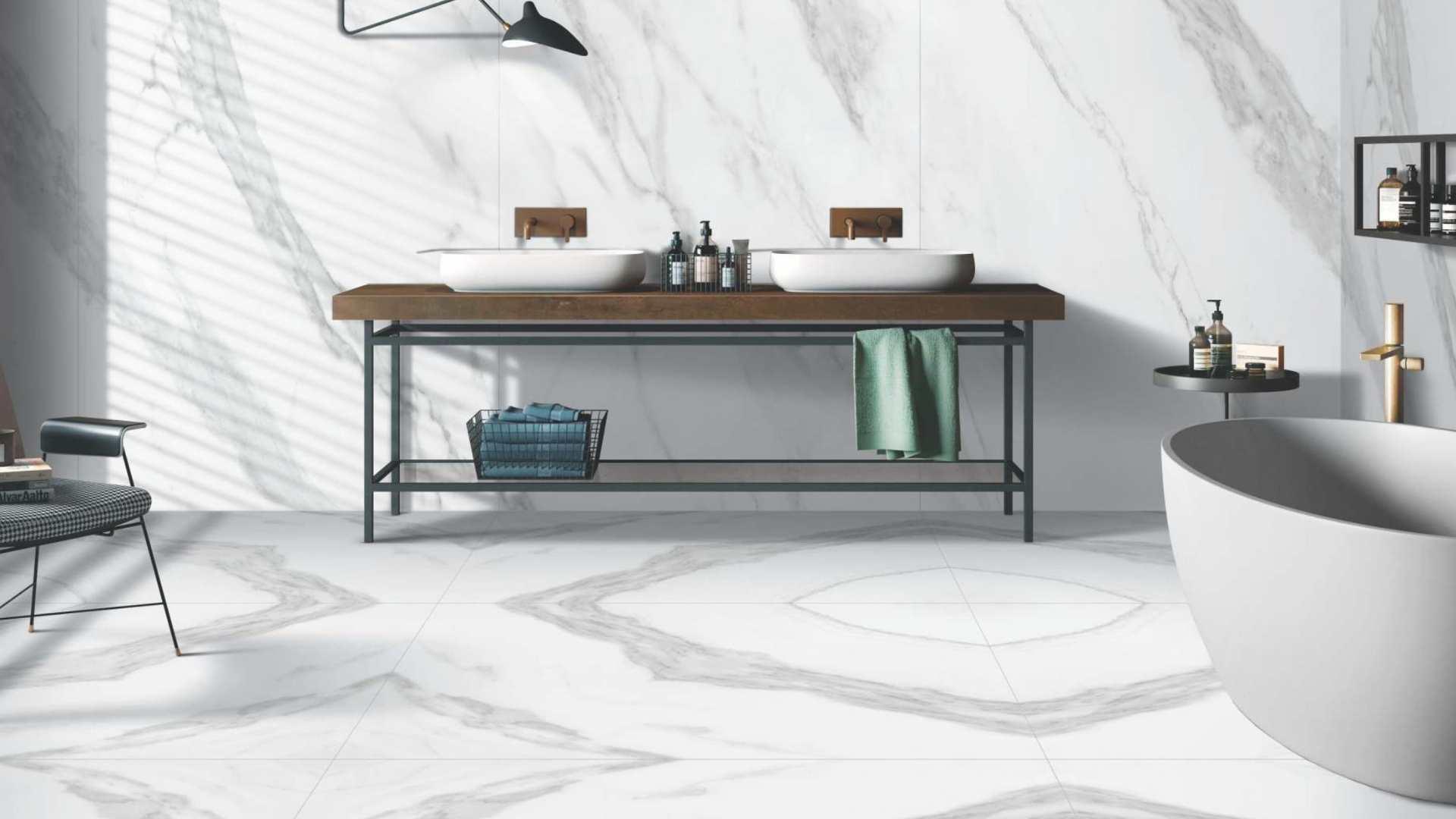 Calacatta-Gris Porcelain Tile