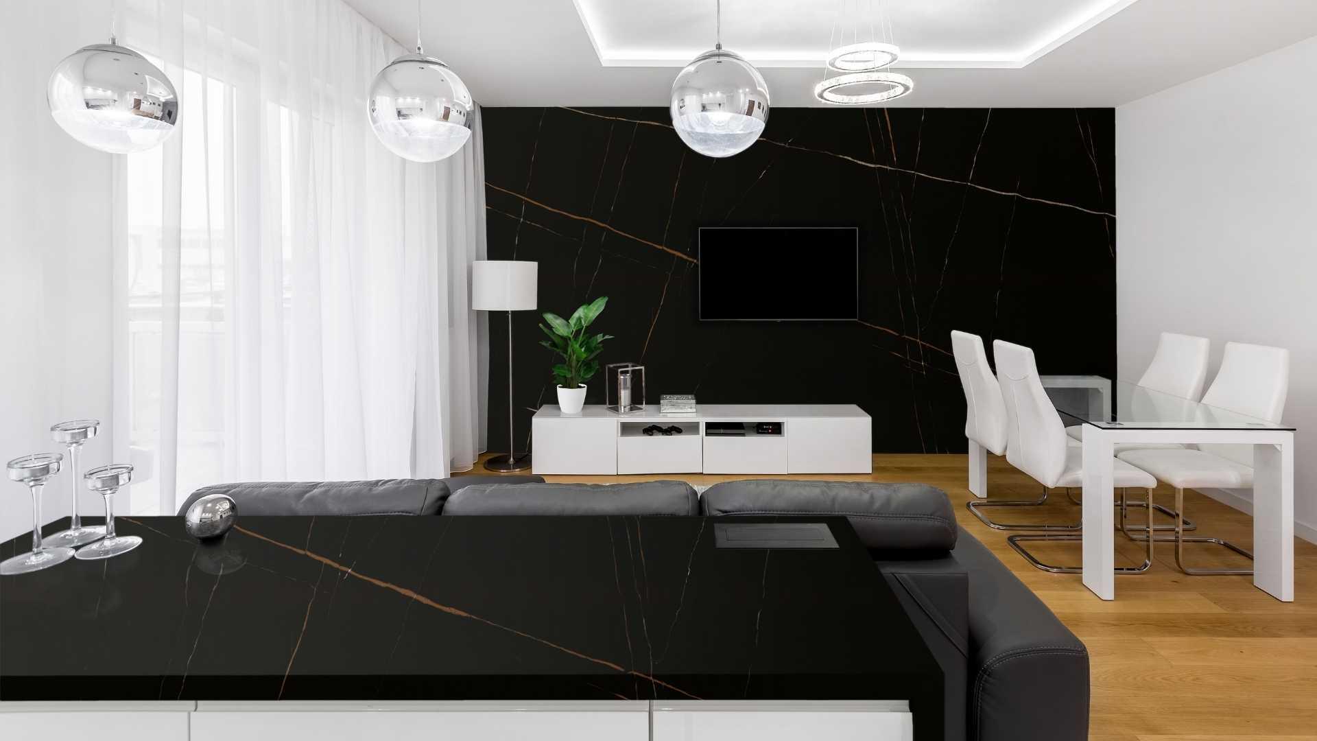 San Laurent quartz with marble design